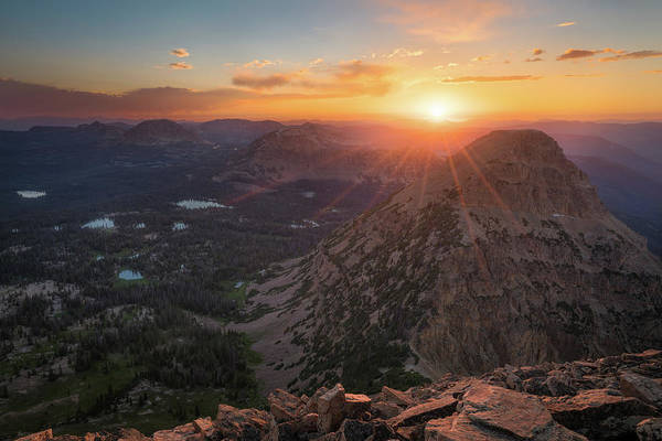 Photograph - Sunset In The Uinta Mountains by James Udall