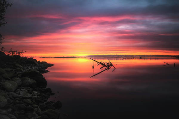 Wall Art - Photograph - Sunset In Tornio 1 by Adrian Malanca