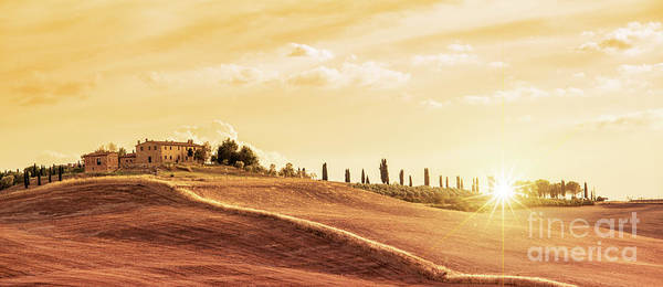 Wall Art - Photograph - Sunset In Tuscany by Delphimages Photo Creations