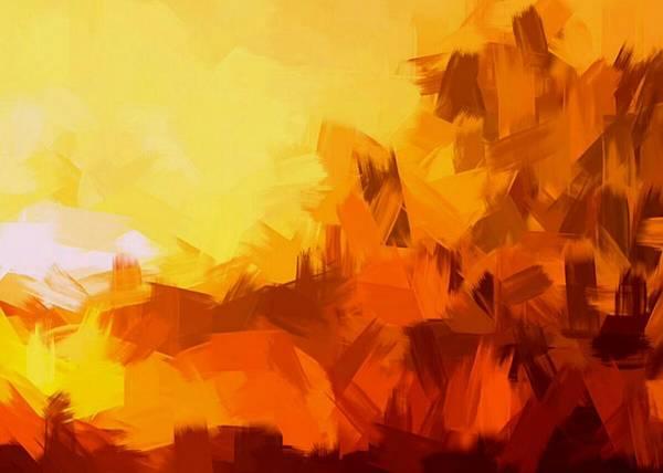 Ra Digital Art - Sunset In Valhalla by Paulo Guimaraes