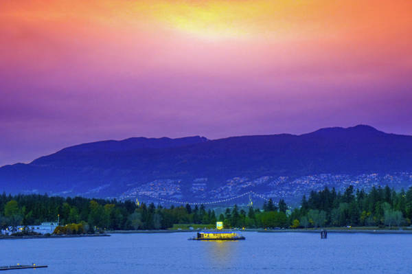 Mountain Lion Photograph - Sunset In Vancouver  by Art Spectrum