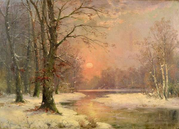Painting - Sunset In Winter by Celestial Images
