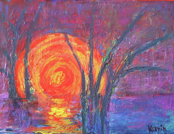 Painting - Sunset by Karin Eisermann