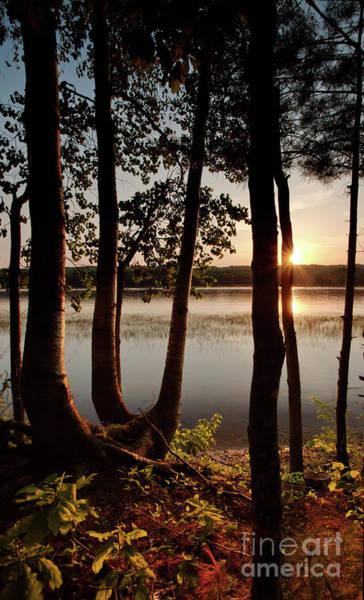 Photograph - Sunset, Kennebec River, South Gardiner, Maine  -8364-8368 by John Bald