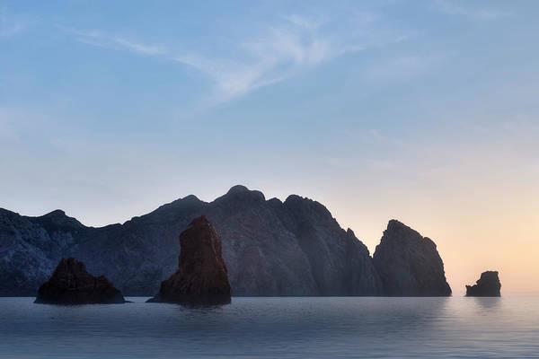 Calvi Photograph - sunset La Scandola - Corsica by Joana Kruse