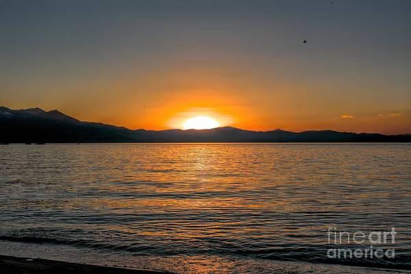 Sunset Lake 3 Art Print