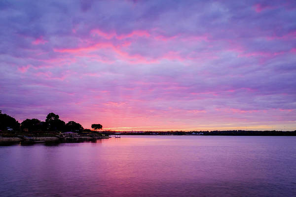 Sunset Lake Arlington Texas Art Print