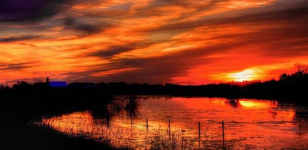 Photograph - Sunset Lake by David Matthews