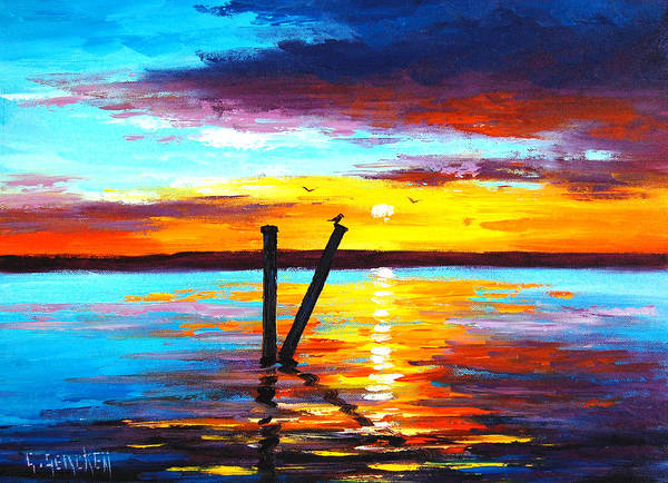 Sunset Lake Art Print