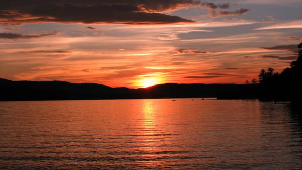 Sunset-lake Waukewan 1 Art Print