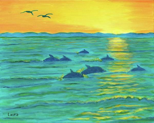 Wall Art - Painting - Sunset by Laura Zoellner