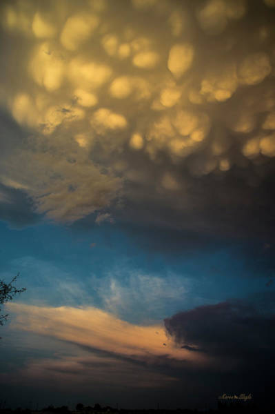 Photograph - Sunset Mammatus by Karen Slagle