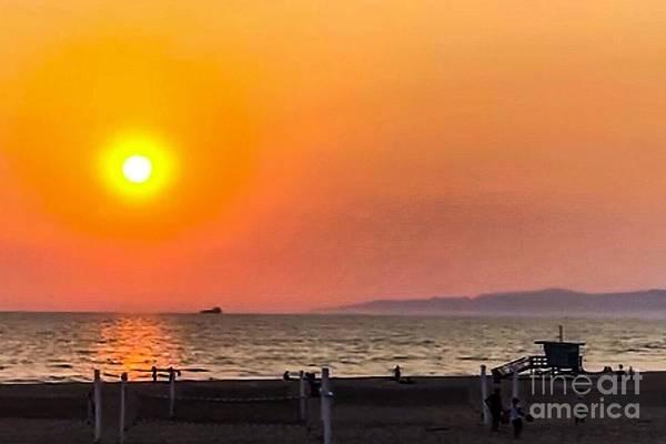 Photograph - Sunset Manhattan Beach by Sheila Wenzel