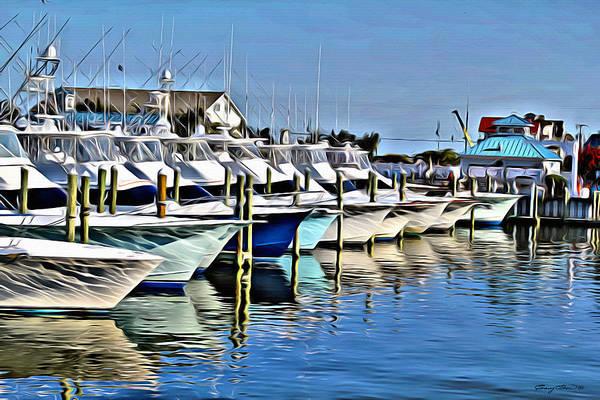 West Bay Digital Art - Sunset Marina by Anthony C Chen