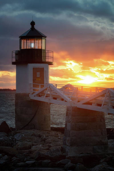 Wall Art - Photograph - Sunset - Marshall Point Lighthouse by Jeff Bazinet