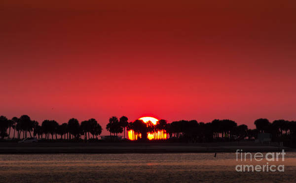 Inlet Photograph - Sunset by Marvin Spates