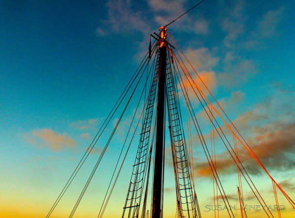 Digital Art - Sunset Mast by Susan Vineyard