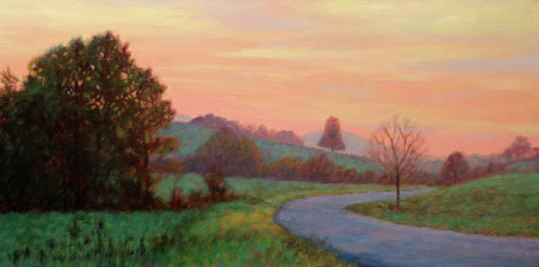 Wall Art - Painting - Sunset Meditation- In The Blue Ridge Mountains by Bonnie Mason