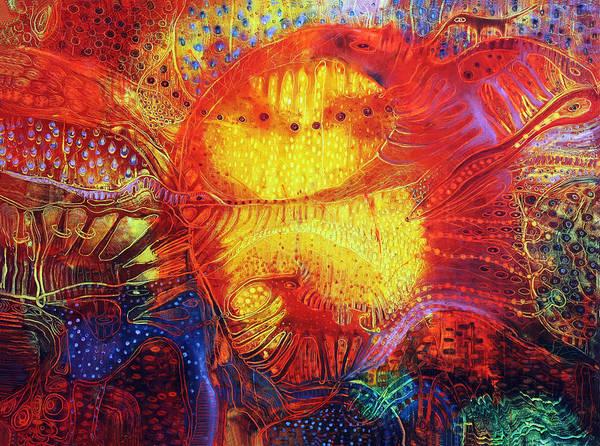 Surrealistic Painting - Sunset Mirage I by Lolita Bronzini