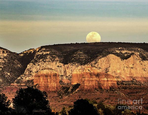 Photograph - Sunset Moon by Adam Morsa
