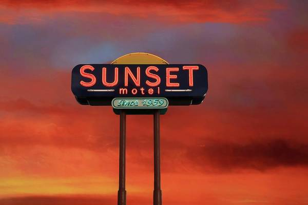 Wall Art - Photograph - Sunset Motel by Donna Kennedy