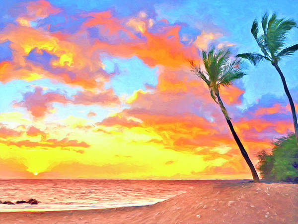 Painting - Sunset Near Kawaihae by Dominic Piperata