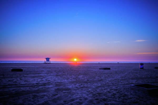 Huntington Beach Photograph - sunset of Huntington beach, CA by Hyuntae Kim