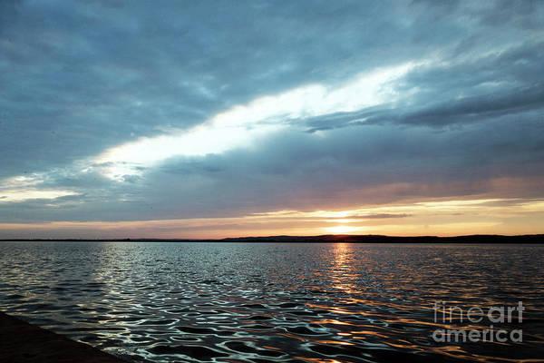 Photograph - Sunset Of Velence Lake by Odon Czintos