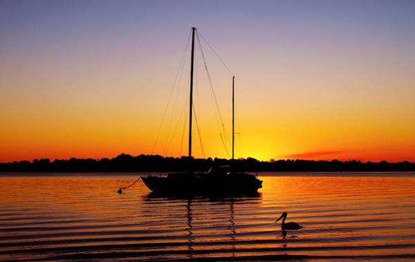 Photograph - Sunset Off Bribie Island by Susan Vineyard