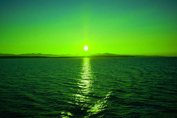 Dun Photograph - Sunset Off The Coast Of Vancouver Island by Jeff Swan
