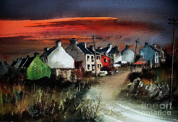 Painting - Sunset On Allihies, Beara, West Cork by Val Byrne