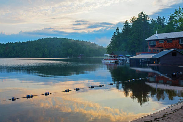 Photograph - Sunset On Ampersand Bay Saranac Lake Ny by Toby McGuire