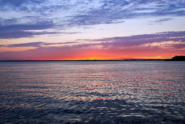 Photograph - Sunset On Barnegat Bay I - Jersey Shore by Angie Tirado