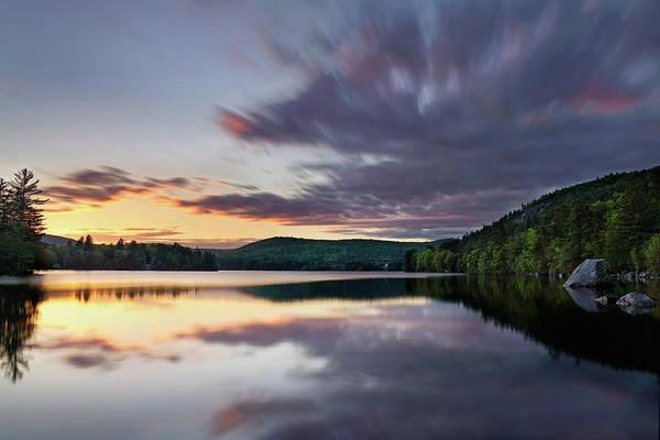 Photograph - Sunset On Bear Pond by Darylann Leonard Photography