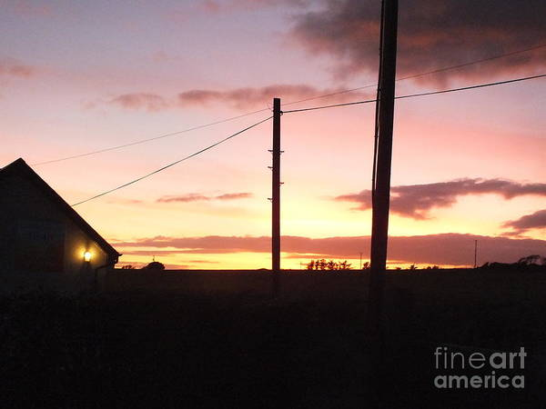 Painting - Sunset On Bunmahon by Val Byrne