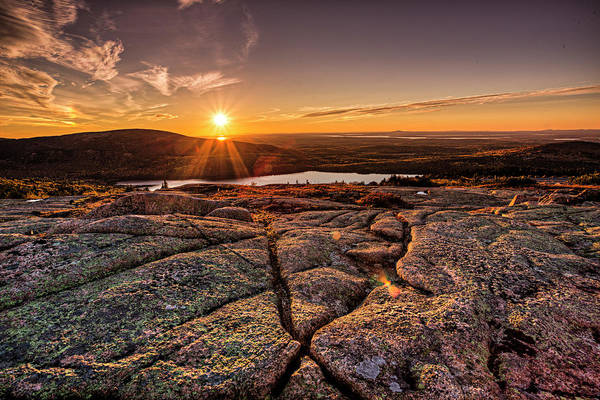Photograph - Sunset On Cadillac Mountain by Joe Paul