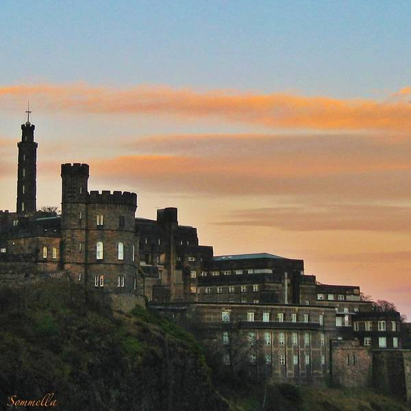 Tramonto Photograph - Sunset On Edinburgh by Gianluca Sommella