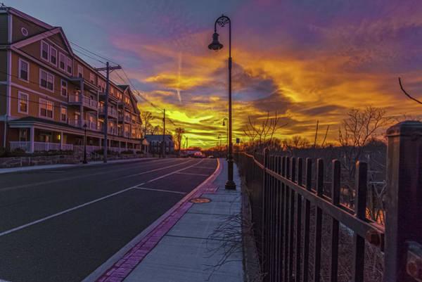 Sunset On Eliot St Milton Ma Art Print