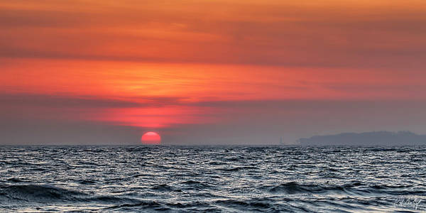 Great Lakes Region Wall Art - Photograph - Sunset On Erie by Phill Doherty