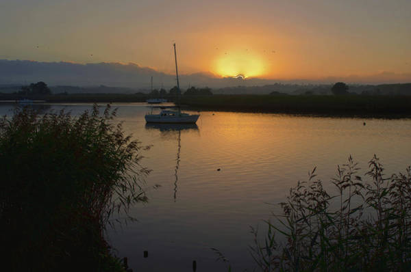 Photograph - Sunset On Exe Estuary At Topsham In Devon by Pete Hemington