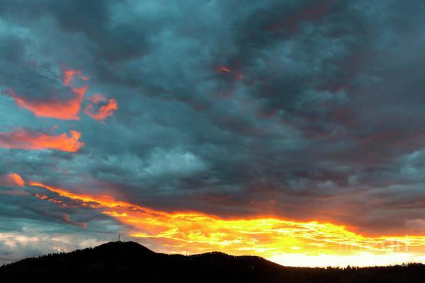 Photograph - Sunset On Gold Hill by Steve Krull