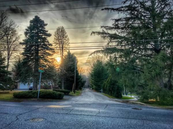 Photograph - Sunset On Hilltop Drive by Chris Montcalmo
