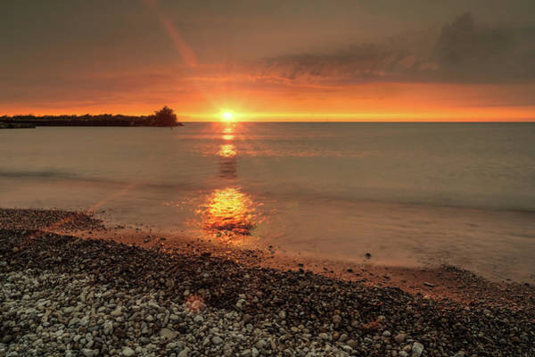 Disappearance Photograph - Sunset On Huron Lake by Nick Mares