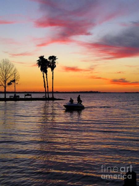 Photograph - Sunset On Lake Dora At Mount Dora Florida by William Kuta