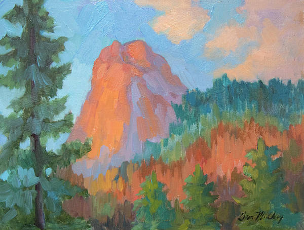 Wall Art - Painting - Sunset On Lily Rock by Diane McClary