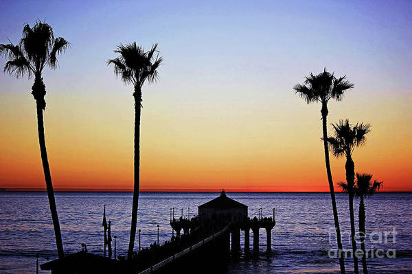 Wall Art - Photograph - Sunset On Manhattan Beach Pier by Sharon McConnell