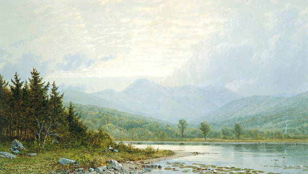 Wall Art - Painting - Sunset On Mount Chocorua, New Hampshire by William Trost Richards