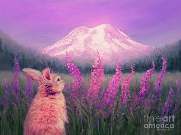 Mount Rainier Painting - Sunset On Mount Rainier by Yoonhee Ko