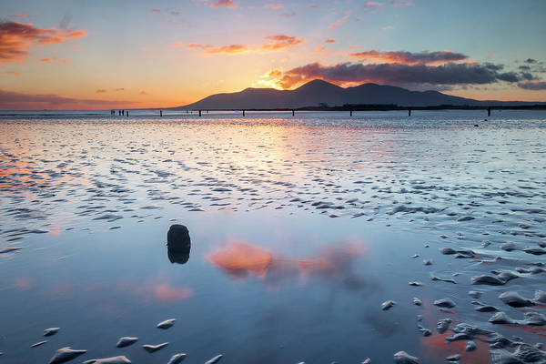 Wall Art - Photograph - Sunset On New Year's Day Tyrella Beach by Glen Sumner