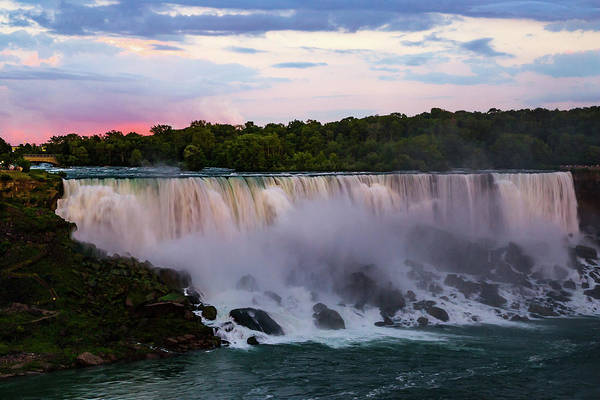 Photograph - Sunset On Niagara Falls New York by Jeff Folger